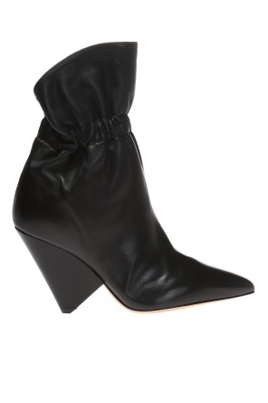 Heeled high ankle boots with ruffles od Isabel Marant